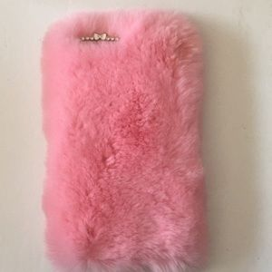 Accessories - IPHONE 7 OR 8 PLUS FURRY PINK PHONE CASE